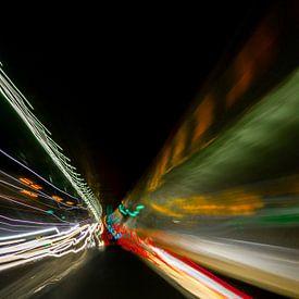 Wat ik doe als ik mij verveel in een tunnel met mijn camera. van Steve Van Hoyweghen