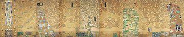 9 werktekeningen voor de mozaïeken Stoclet-fries, Gustav Klimt