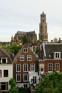 Binnenstad van Utrecht met Domkerk en Domtoren van