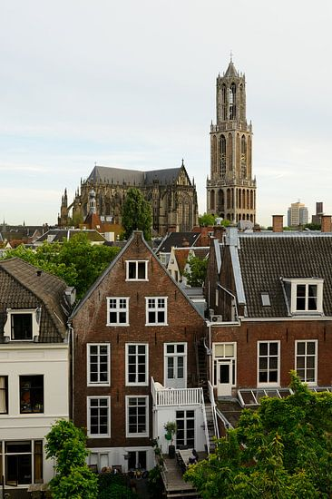 Binnenstad van Utrecht met Domkerk en Domtoren