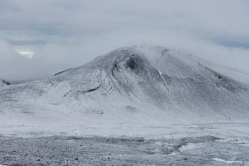 Winterlandschap in IJsland sur Wigger Tims