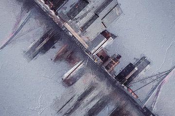 Rotterdam Skyline van Digitale Schilderijen