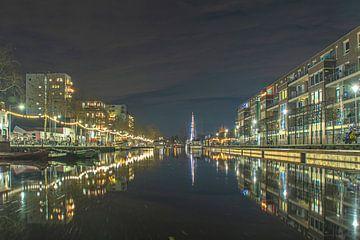 Piushaven in de winteravond