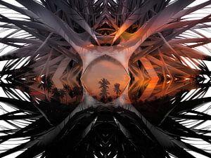 Palmboom landschap