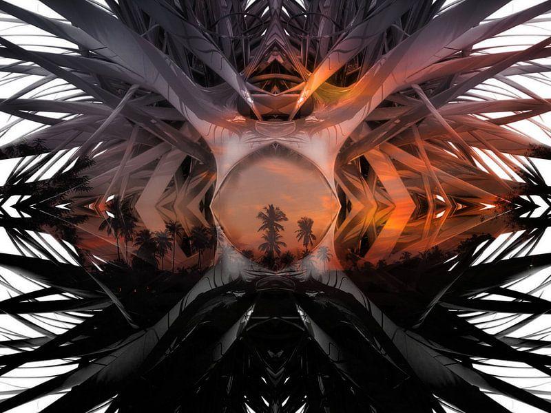 Palmboom landschap van Marcel van Berkel