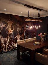 Klantfoto: De koeien van boer Klein van Inge Jansen, als naadloos behang