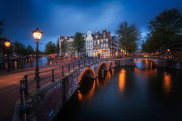 Amsterdam Prinsengracht Abend von