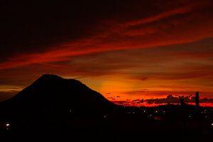 Sunset Aruba van Ruurd van der Meulen