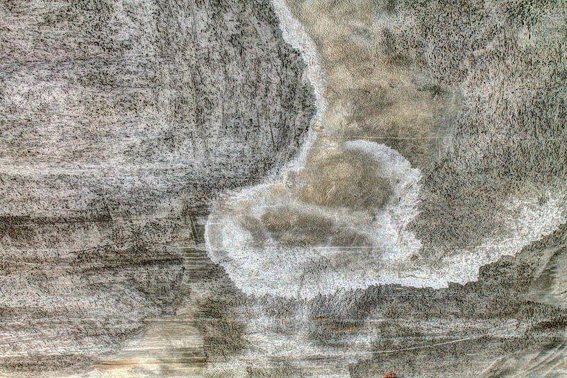 Minimalisme Kunst Fotografie Betonnen Muur van Hendrik-Jan Kornelis