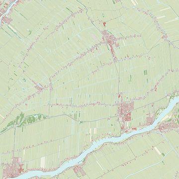 Kaart vanBergambacht van Rebel Ontwerp