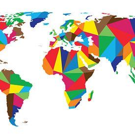 United Colors Worldmap von - Wereldkaarten.Shop -