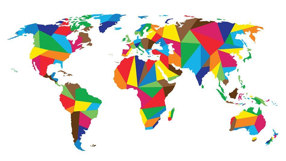 United Colors Worldmap van - Wereldkaarten.Shop -