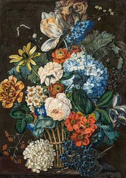 Blumenstillleben mit Trauben, Leopold Zinnögger