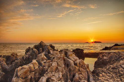 Zonsondergang Funtana, Kroatië