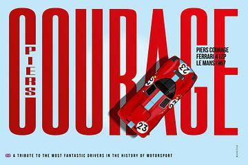 Piers Courage Ferrari 412P Tribute van Theodor Decker