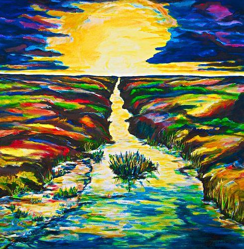 Sonnenaufgang über der Marsch von