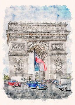 Paris L'Arc de Triomphe van Peter Roder