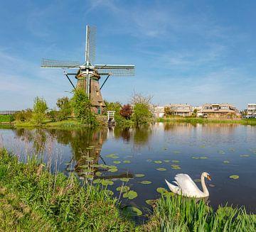 Poldermolen De Zijllaanmolen, Leiderdorp, , Zuid-Holland, Nederland van Rene van der Meer