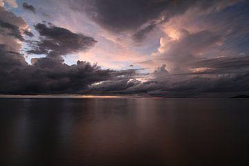 Lake Malawi in de vroege ochtend van