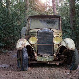 Oldtimer in het bos van Tim Vlielander