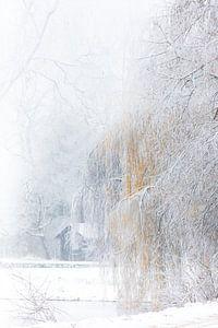 Winter aan het boothuis