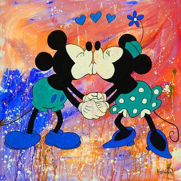 """Mickey und Minnie Maus """"Vibrant"""" von Kathleen Artist Fine Art"""