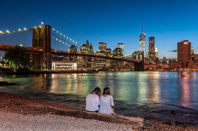 New York - Brooklyn Bridge  van Kurt Krause