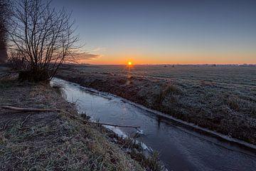 Een koude ochtend in het Groninger land von Hessel Hogendorp