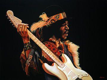 Jimi Hendrix Schilderij 3 van Paul Meijering