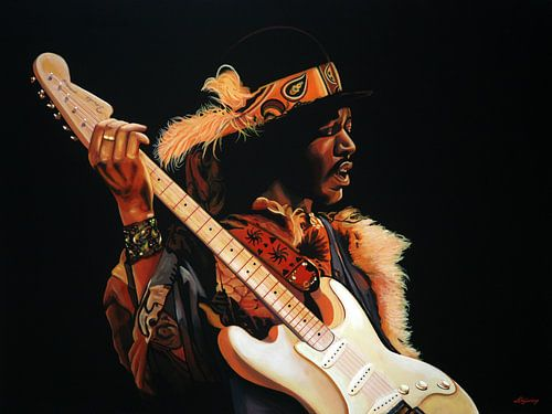Jimi Hendrix Schilderij 3