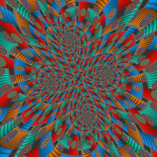 Vierdubbele Spiraal van Trappen en Cirkels