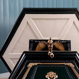 preekstoel Schokland in symmetrie van Corrie Ruijer