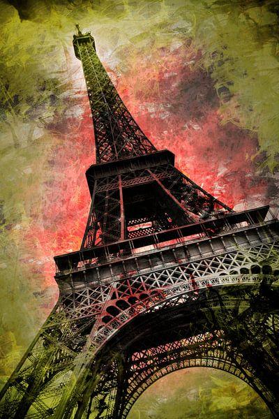 Modern-Art Eiffel Tower van Melanie Viola