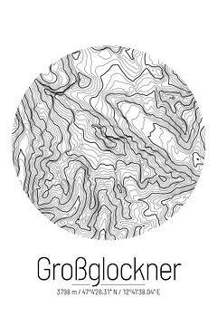 Großglockner | Topographie de la carte (minimum) sur ViaMapia