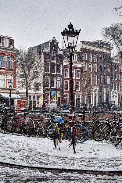 Winter Amsterdam Spiegelbuurt van Hendrik-Jan Kornelis