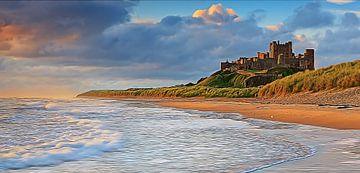 Zonsopkomst kasteel van Bamburgh