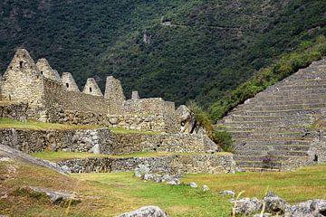 Teil der Inka-Stadt Machu Picchu von Yvonne Smits