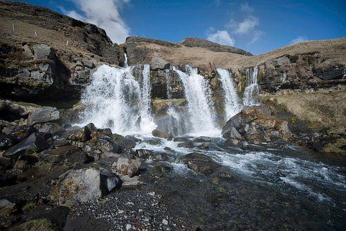 Gluggafoss watervallen IJsland von Ruud van der Lubben