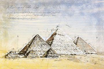 Pyramiden von Gizeh, Ägypten von Theodor Decker