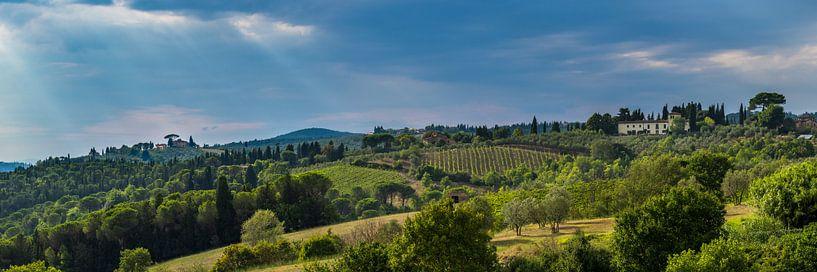 Chianti heuvels in Toscane von Teun Ruijters