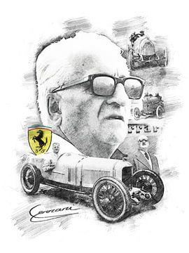 Enzo Ferrari von Theodor Decker