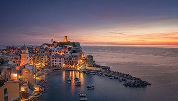 Vernazza - Cinque Terre - nach Sonnenuntergang von Toon van den Einde