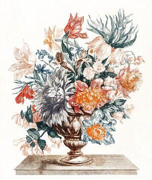 Stenen vaas met bloemen, Johan Teyler