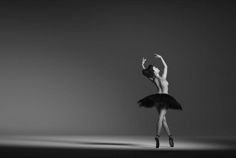 Ballerine en noir et blanc sur Arjen Roos