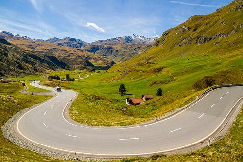 Julierpas in Zwitserland van Dirk Jan Kralt