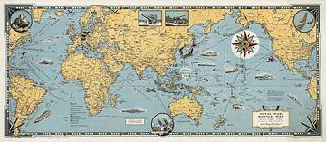 Oorlogskaart van de Wereld van