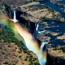 Victoria watervallen in Zambia en Zimbabwe van Simone Meijer