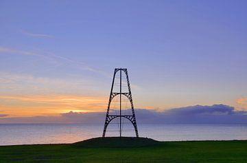 Le Cap de fer sur Texel au lever du soleil sur Wim van der Geest