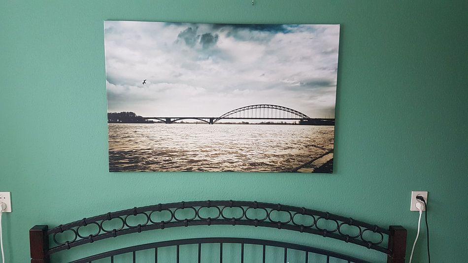 Klantfoto: Donkere wolken boven Nijmegen van Bas Stijntjes