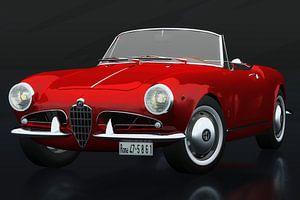 Alfa Romeo Giulietta 1300 Spyder 1955 Dreiviertelansicht